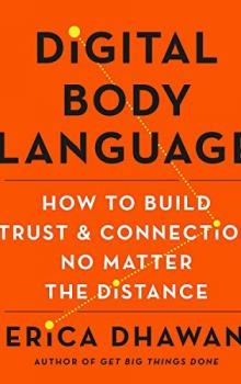 Front Cover of Book: Digital Body Language. Orange background