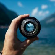 Mountains through lens