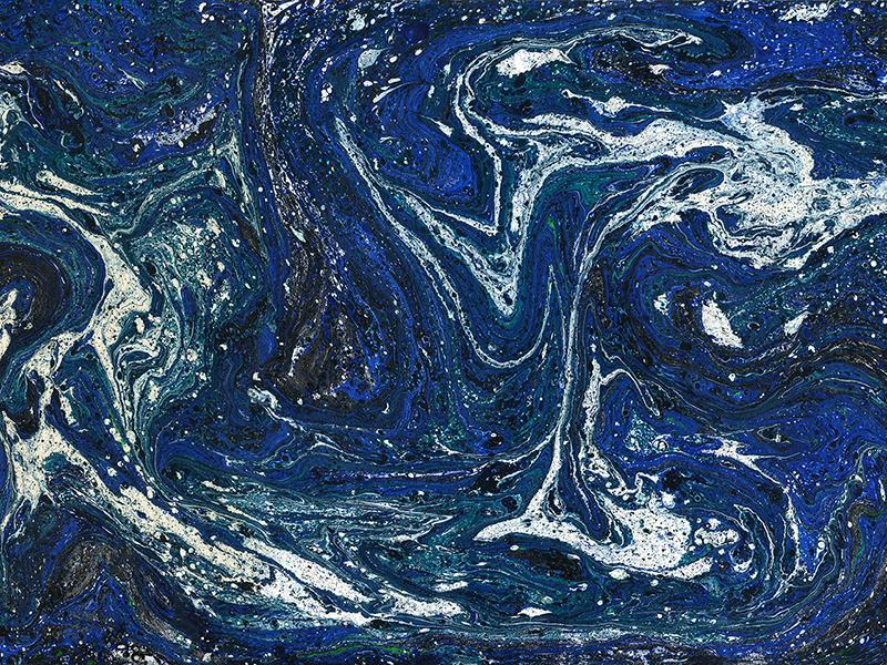 Blue and White Marbled pattern