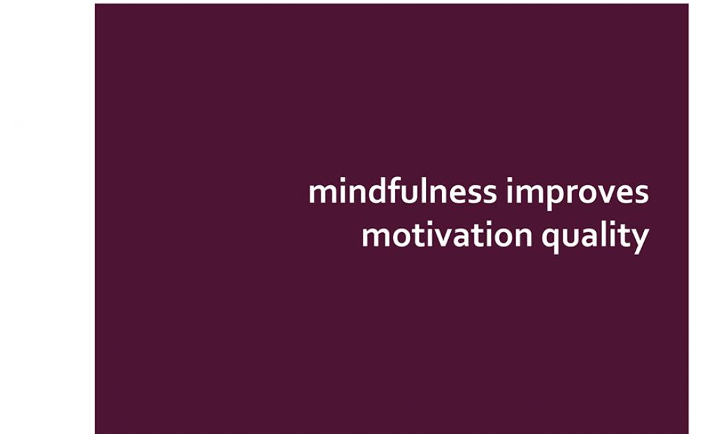 Powerpoint slide: Mindfulness Improves Motivational Quality
