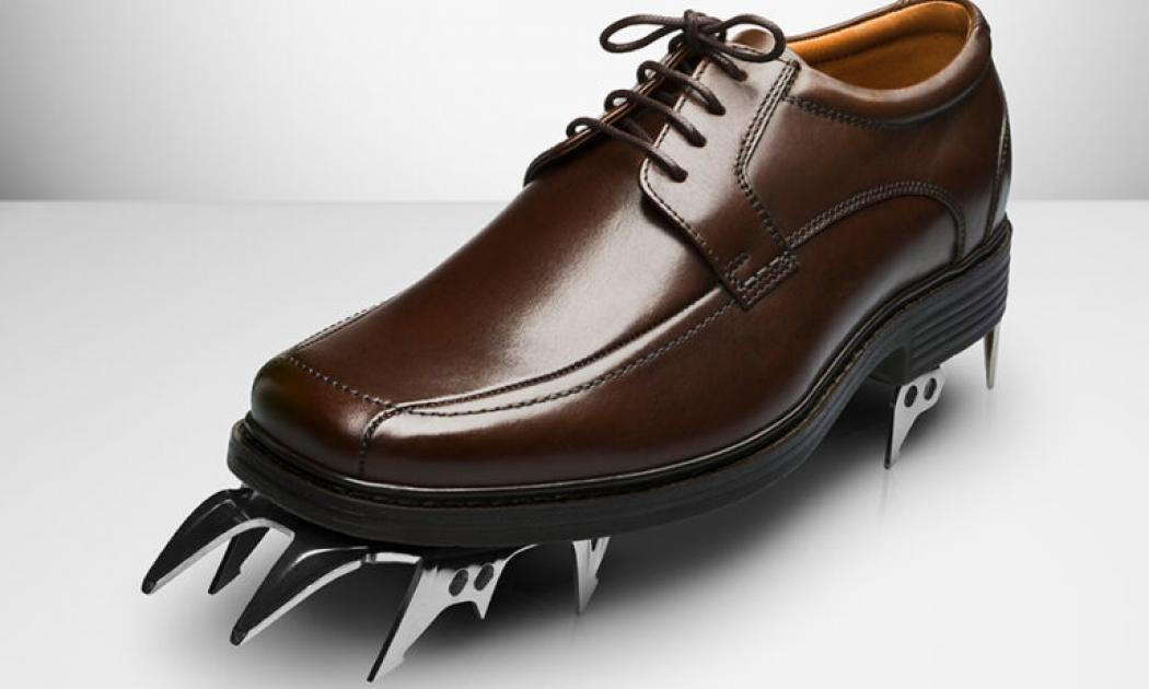 Big shoe with spikes on the toe