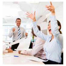 Successful office team