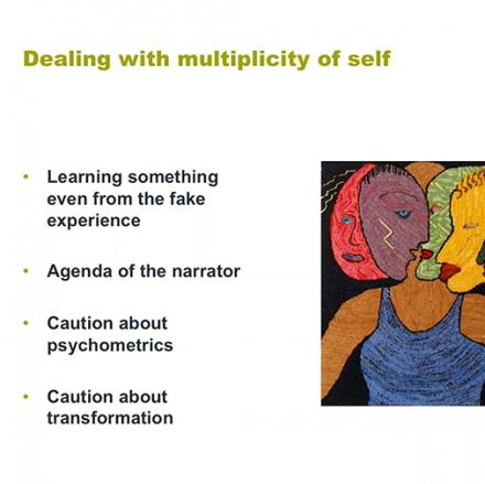 List of Bullet points with a painting depicting one self as many