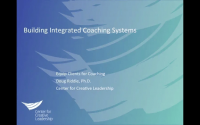 2016 Conference Talk: Building Integrated Coaching Systems, Part 1