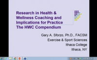 Research in Health Wellness Coaching