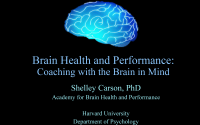 Webinar Slides - Brain Health and Performance