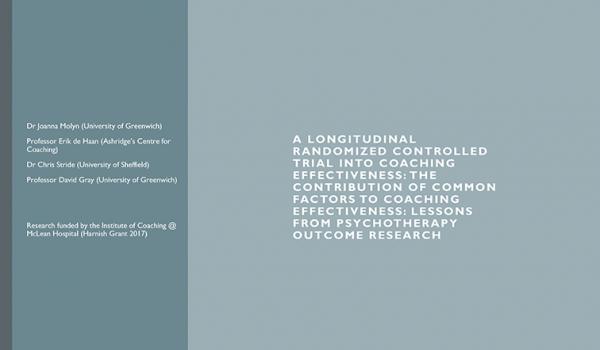 Applying Scientific Rigor to Coaching