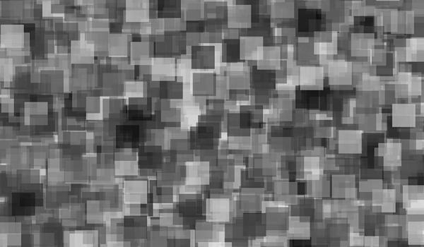 Black and white squares in a chaotic pattern