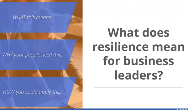 The science of leading and managing resilience in uncertain times