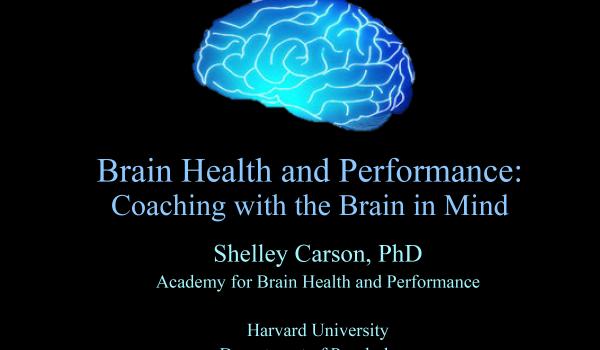 Webinar Slides - Brain Health and Performance