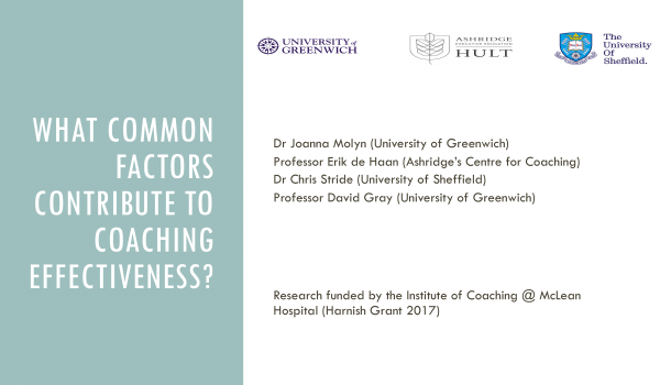 Slides for Coaching Effectiveness Research Webinar